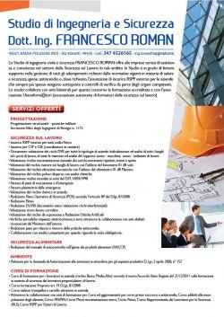 Studio di ingegneria e sicurezza Ing. Francesco Roman